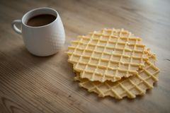 Filiżanka kawy z ciastkami Obrazy Royalty Free