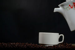 Filiżanka kawy z garnkiem Fotografia Royalty Free