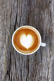 Filiżanka latte sztuki kawa Fotografia Stock