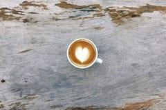 Filiżanka latte sztuki kawa Obraz Royalty Free