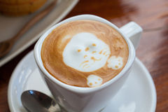 Filiżanka latte sztuki kawa Obraz Stock