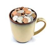 Filiżanka monety Obraz Royalty Free