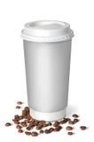 Filiżanka z kawowymi fasolami fotografia royalty free