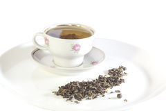 Filiżanka zielona herbata Fotografia Stock