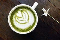 Filiżanka zielonej herbaty matcha latte Obraz Royalty Free