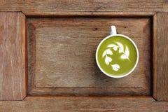 Filiżanka zielonej herbaty matcha latte Zdjęcie Royalty Free
