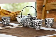 filiżanki ceramiczny teapot obraz royalty free
