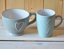 Filiżanki dla herbaty lub kawy Zdjęcia Royalty Free
