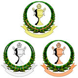 filiżanki emblemata trzy trofeum Ilustracji