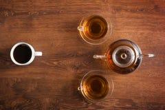 Filiżanki herbata i kawa Zdjęcie Royalty Free