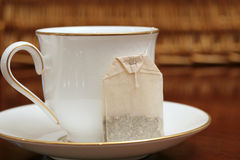 filiżanki herbaty spodka torby Obraz Stock