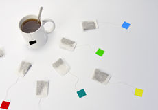 filiżanki herbaty teabags Zdjęcie Royalty Free