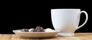 Filiżanki i spodeczka cukierki cukierek Zdjęcie Stock