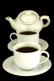 Filiżanki i Teapot Fotografia Royalty Free