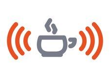 filiżanki ikony wifi Zdjęcie Royalty Free
