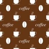 Filiżanki kawowa fasola bezszwowa Zdjęcia Stock