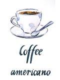 Filiżanki kawy americano Obraz Royalty Free