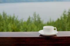 Filiżanki kawy drewno Obraz Stock