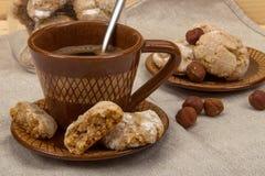 Filiżanki kawy i ciastek amaretti Obraz Stock