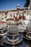 filiżanki metall turkish Zdjęcia Royalty Free
