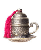 filiżanki odosobniony metall turkish Obraz Royalty Free