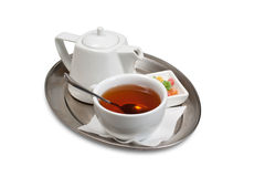 filiżanki spodeczka herbata fotografia royalty free