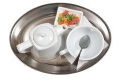 filiżanki spodeczka herbata Zdjęcie Royalty Free