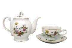 filiżanki teapot Obrazy Royalty Free