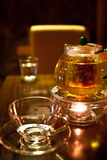 Filiżanki teapot Bar Zdjęcia Royalty Free