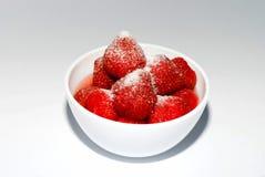 filiżanki truskawka Zdjęcia Stock