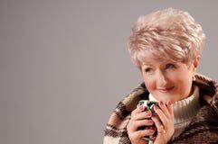 filiżanki uroczysta damy szkocka krata Zdjęcia Stock