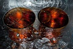filiżanki woda dwa Zdjęcie Stock