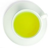 filiżanki zielonej herbaty biel Obrazy Stock