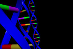 Fili del DNA Fotografie Stock Libere da Diritti