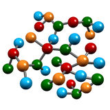 Fili di biologia della molecola Fotografia Stock