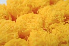Fili dorati, dessert tailandese Immagini Stock