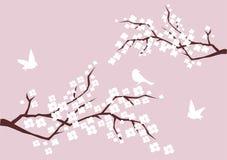 Filiais da flor ilustração stock