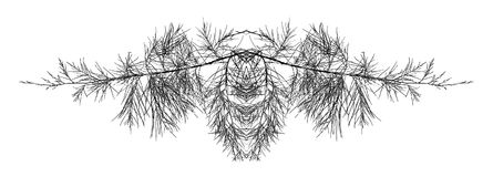 Filiais de árvore abstratas Imagens de Stock