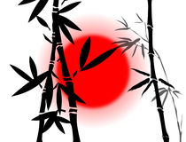 Filiais de bambu ilustração stock