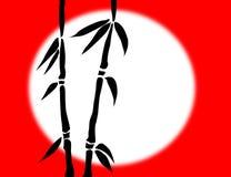 Filiais de bambu ilustração do vetor