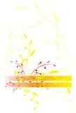 Filial da cor amarela e vermelha Fotos de Stock Royalty Free
