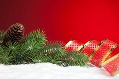 Filial da árvore de Natal Fotografia de Stock Royalty Free