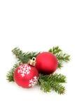 Filial de árvore do Natal Foto de Stock Royalty Free