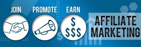 Filial que introduz no mercado o tema do negócio de três círculos horizontal Fotografia de Stock Royalty Free