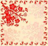 Filiale dei fiori di ciliegia Immagine Stock