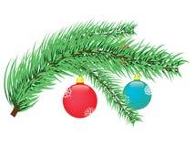 Filiale dell'albero di Natale Fotografie Stock Libere da Diritti