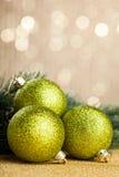 Filiale dell'albero di Natale Fotografia Stock