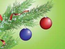 Filiale dell'albero di Natale illustrazione vettoriale
