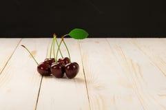 Filiale delle ciliege mature Immagine Stock