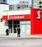 Filiale di Scotiabank Immagini Stock
